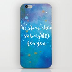 The Stars Shone So Brightly For You iPhone & iPod Skin
