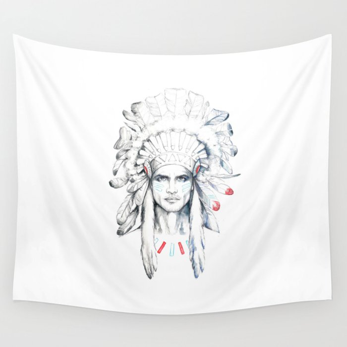 Indian Man Wall Tapestry