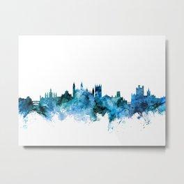 Cambridge England Skyline Metal Print