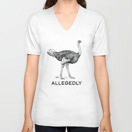 Allegedly Ostrich- Letterkenny Unisex V-Neck