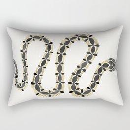 Serpent – Black & Gold Rectangular Pillow