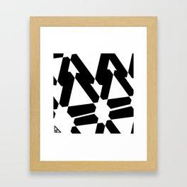 trisep b&w Framed Art Print