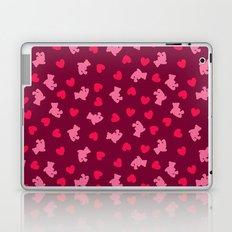 Teddies and hearts Laptop & iPad Skin