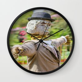 The Lost Gardens of Heligan - Diggory the Scarecrow Wall Clock