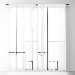 Rectangles Blackout Curtain