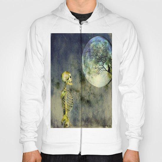 Skeleton in clear of the moon Hoody