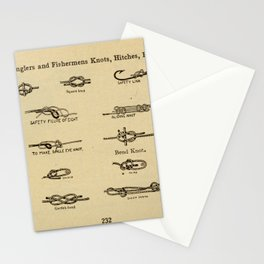 Vintage Diagram of Boating and Angler Knots (1913) Stationery Cards