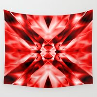 kaleidoscope Wall Tapestries featuring Kaleidoscope by Assiyam