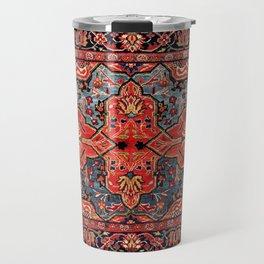 Kashan Poshti Central Persian Rug Print Travel Mug