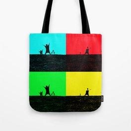 Pop Art Cricket Tote Bag