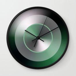 Serene Simple Hub Cap in Green Wall Clock
