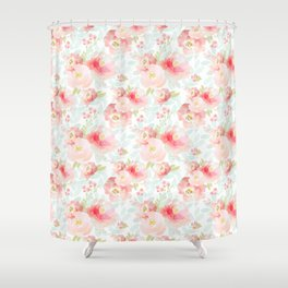 Indy Bloom Design Pink Plush Florals Shower Curtain