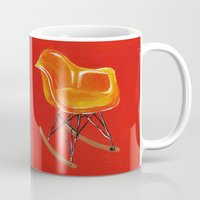 eames Mugs featuring Eames Rocker  by Redeemed Ink by - Kagan Masters