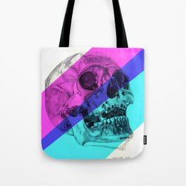 Skull pencil drawing with colour Tote Bag