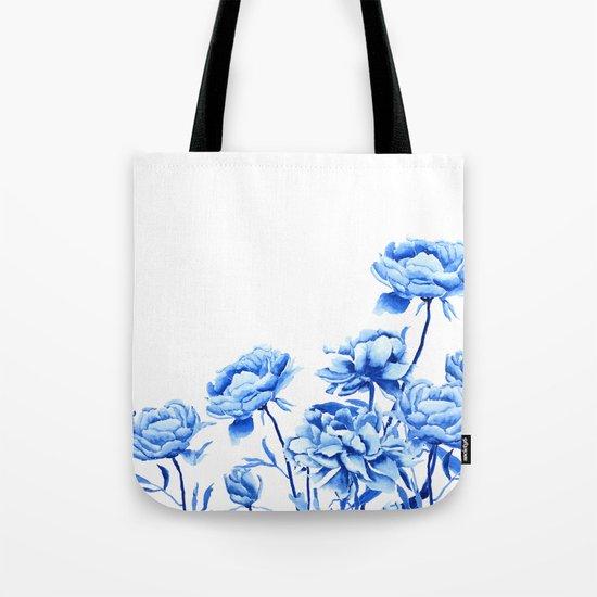 blue peonies 2 Tote Bag