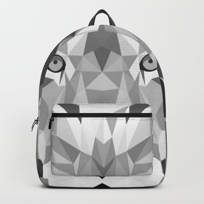 Large Silver Lion Head Backpack