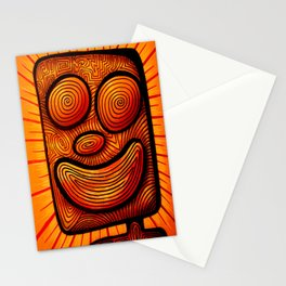 enthusiastic square boy Stationery Cards