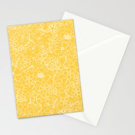 Vintage Floral-Bright yellow Stationery Cards