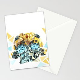 Bumblebee Low Poly Portrait Stationery Cards
