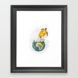 Climate changes the nature Framed Art Print