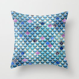 Mermaid Scales 13 Throw Pillow