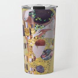 THE KISS COLLAGE. GUSTAV KLIMT. Travel Mug