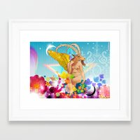 baphomet Framed Art Prints featuring Baphomet by rodalume