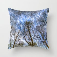 Into The Trees Throw Pillow