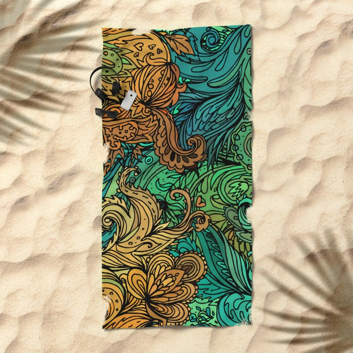 Indian Pattern 02 Beach Towel