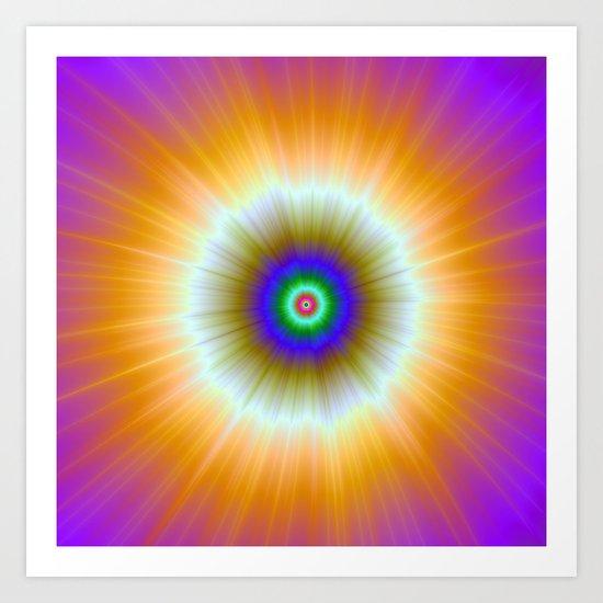 Orange Explosion of Color Art Print