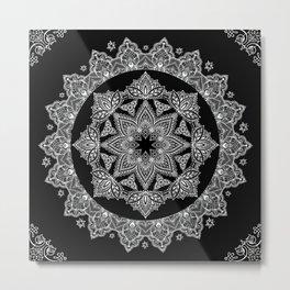 Lotus Dreams Mandala Metal Print