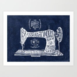 TWTH sewing machine Art Print
