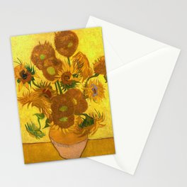 Vincent Van Gogh Fifteen Sunflowers In A Vase Stationery Cards