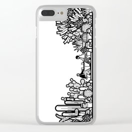 Chai and Cacti III Clear iPhone Case