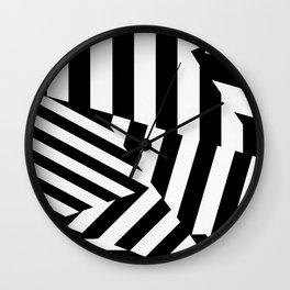 RADAR/ASDIC Black and White Graphic Dazzle Camouflage Wall Clock