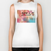tegan and sara Biker Tanks featuring Tegan and Sara: Now I'm All Messed Up by Tia Hank