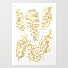 Fern Pattern Gold Art Print