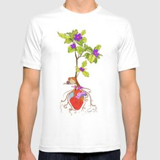 even though i buried my heart, my love has blossomed MEDIUM White Mens Fitted Tee