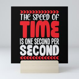 Second is just one secon The Speed of Time Mini Art Print