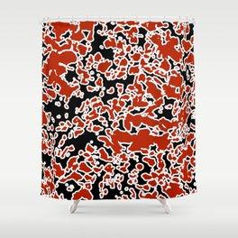 Splatter Abstract Texture Shower Curtain