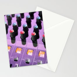 Sound mixer buttons in concert Stationery Cards