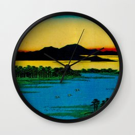 Sunset Contemplative Landscape Wall Clock