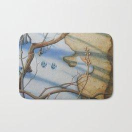 Paw Prints in the Snow Bath Mat