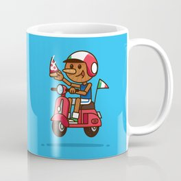 Italy! Pinocchio Eat Pizza and Ride Vespa Coffee Mug