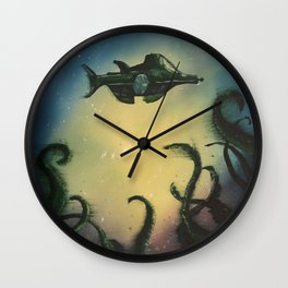 20,000 Leagues Under The Sea - Jules Verne Wall Clock