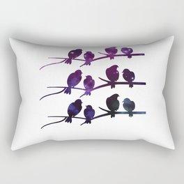 Birds Branch Silhouette Galaxy Gift Rectangular Pillow