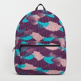 Scallop Abstract - Purple, Pink, Blue Backpack
