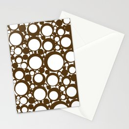 Brown Geometric Abstract Modern Circle Art Stationery Cards