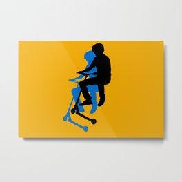 Landing Gears - Stunt Scooter Rider Metal Print