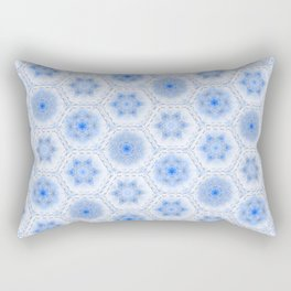 Christmas, Blue Ice Rectangular Pillow